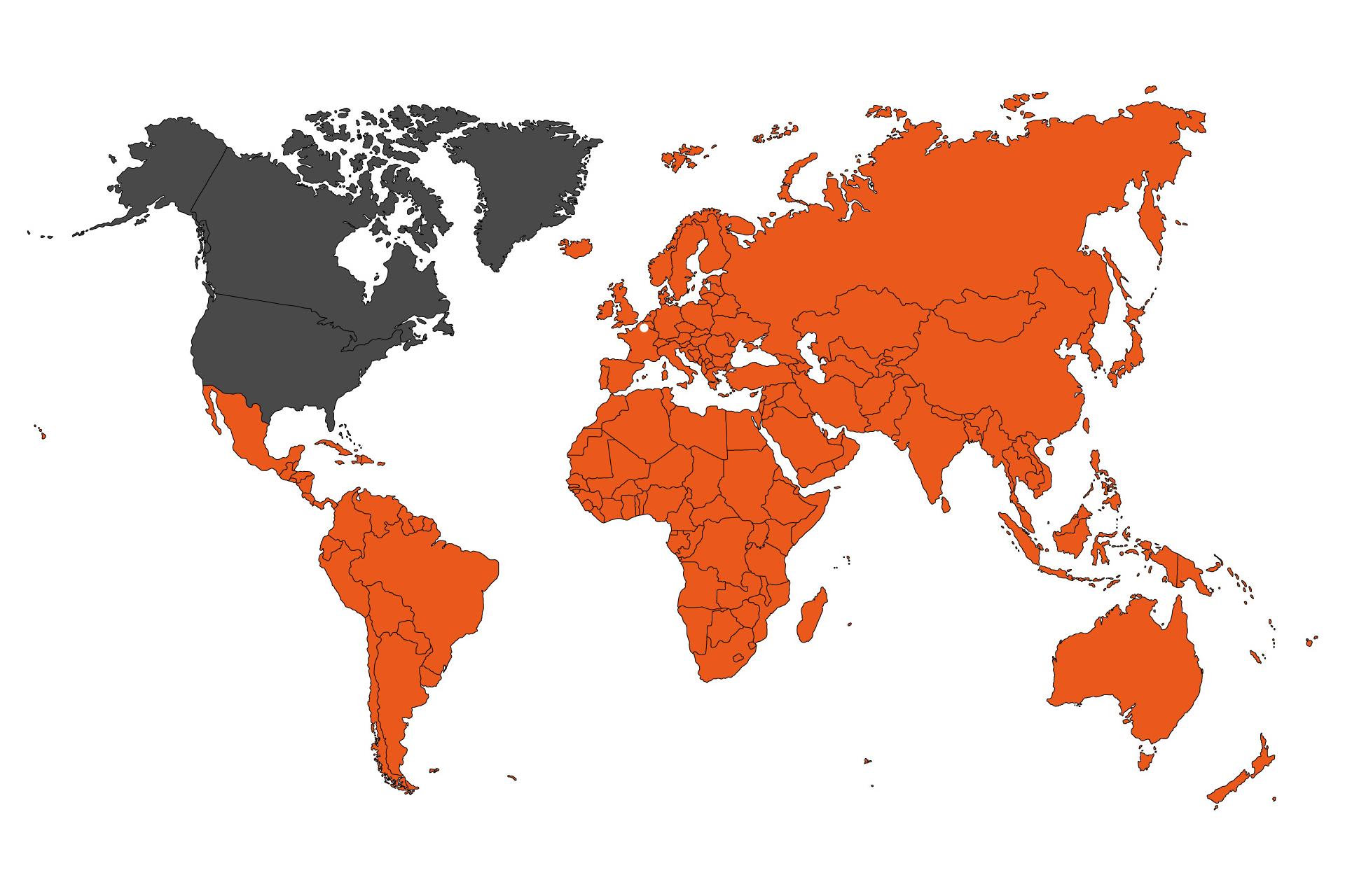 Implantation-mondiale